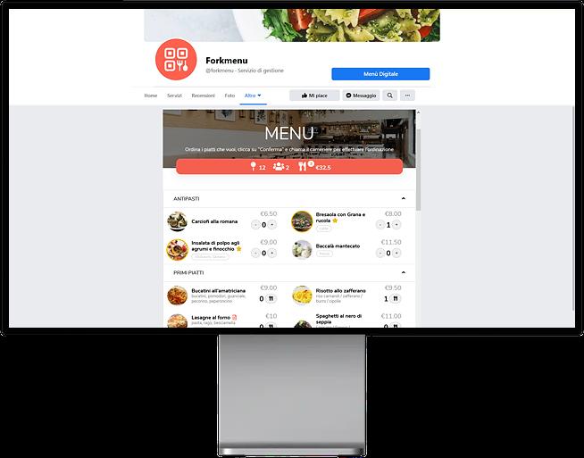 Come integrare il Menu Digitale di Forkmenu alla Pagina Fan Facebook