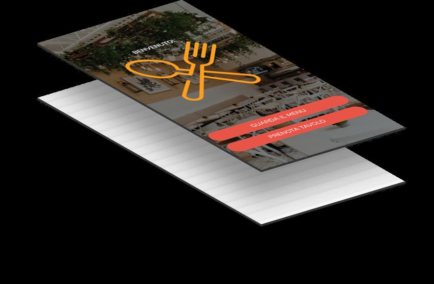 Accedere al Menu Digitale sfiorando lo smartphone sul tavolo o su uno stampato.
